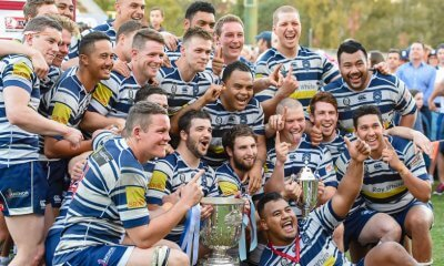 Brothers celebrate winning the 2016 Hospital Cup