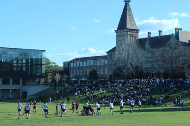 Newington - great rugby setting