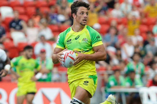 Samm Figg, playing for the Aussie 7s