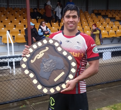 Jarrad Butler with the Horan Little Shield