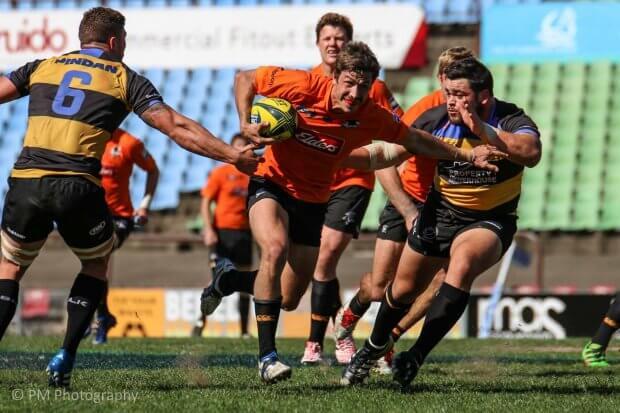 Jake Gordon slices through the defence.
