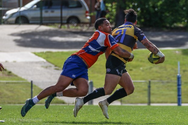 Michael Ruru taken down by the cover defence.