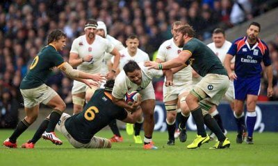 Billy Vunipola on the charge