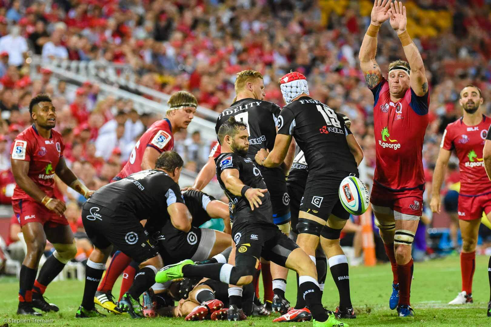 Leroy Houston charges down a Cobus Reinach box kick the last time the Reds played the Kings