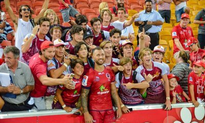 Fans with Quade Cooper