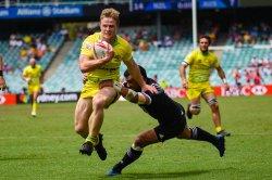Henry Hutchison scores for Australia, Australia v New Zealand
