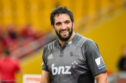 Crusaders captain Sam Whitelock can afford a smile after achieving a three-peat
