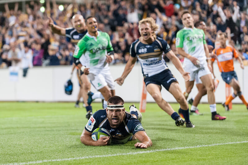 Chris Alcock socres for the Brumbies