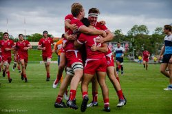 Reds celebrate Sam Edwards first try