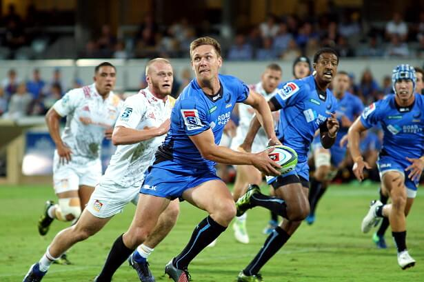 Dane Haylett-Petty in typical pose before he had to retire injured