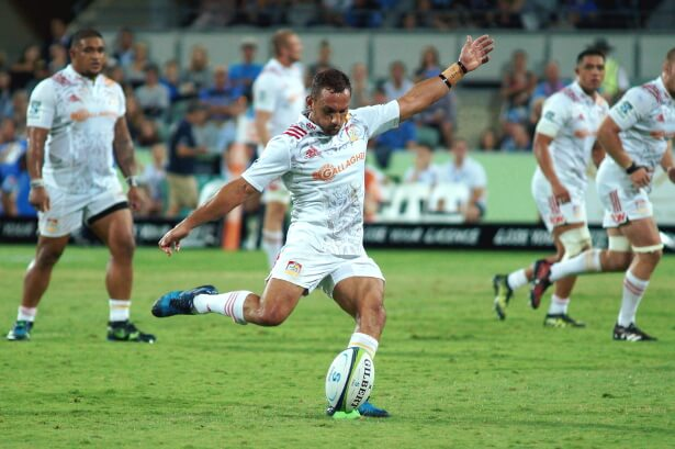 Aaron Cruden goes for goal