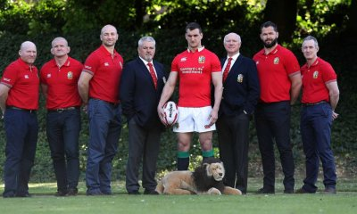 Team announcement for the British and Irish Lions Tour to New Zealand, Syon Park Hotel London 19/4/2017Pictured at the announcement were Neil Jenkins (Kicking coach) Graham Rowntree (Scrum coach) Steve Borthwick (Forwards coach)Warren Gatland (Head coach) Sam Warburton (Captain) John Spencer (Manager) Andy Farrell (Defense coach) and Rob Howley (Backs coach) Mandatory Credit ©INPHO/Billy Stickland
