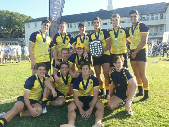Scots Gold - Winners of Rhino Shield at 2017 Scots College 7s