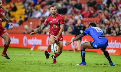 Quade Cooper kicks ahead