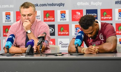Nick Stiles and Samu Kerevi at press conference