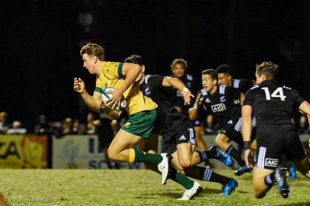 James Ramm took an intercept to shut down a New Zealand attack