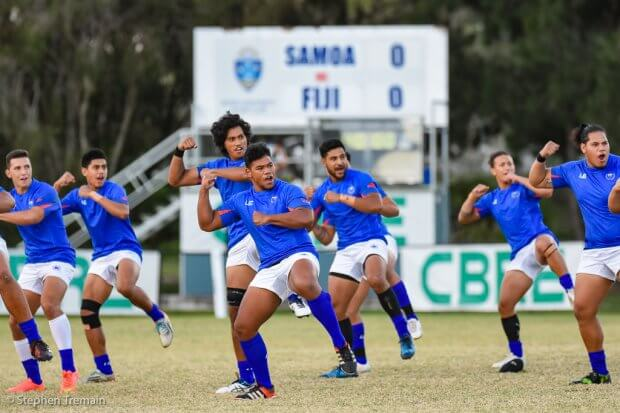 Samoa perform the Siva Tau for Fiji