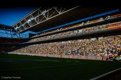 Afternoon rugby at Suncorp Stadium