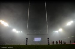 Fog made conditions difficult, especially in the second half
