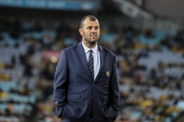 Michael Cheika was practising being sad even before kickoff.