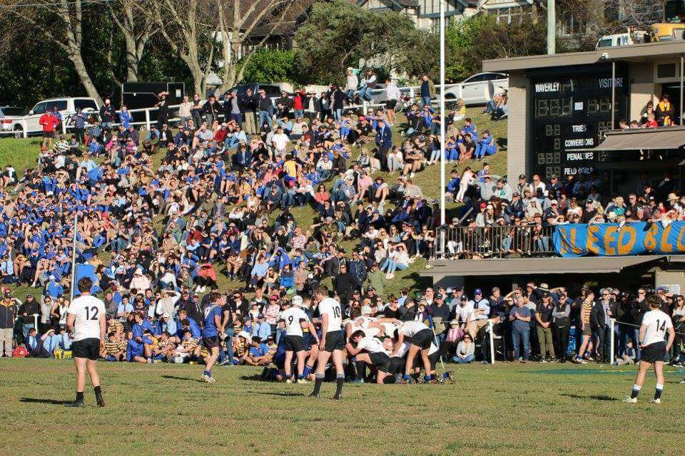 "Big crowd turned out at ""Death Valley"" Source: www.facebook/waverleysport"