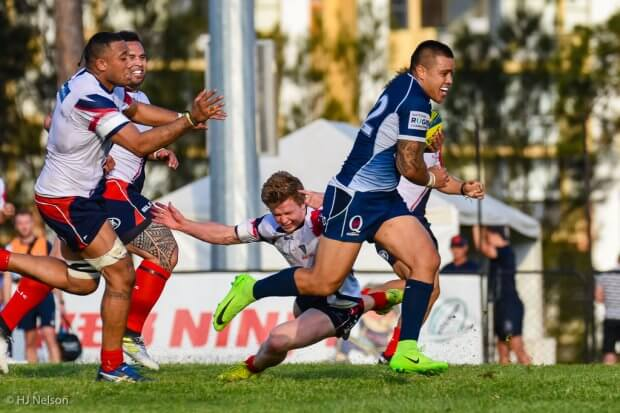 Duncan Paia'aua breaks through to score