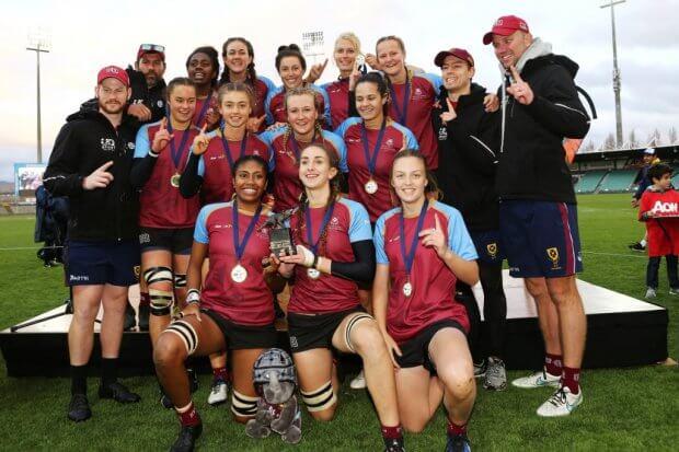 University of QLD winners of 1st Round of Uni 7s (Photo credit ARU Media/Karen Watson)