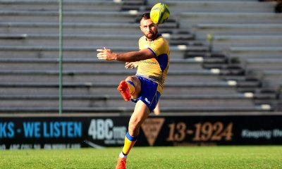 Quade Cooper kicking for distance for Brisbane City against the Fiji Drua. Yes I said distance!