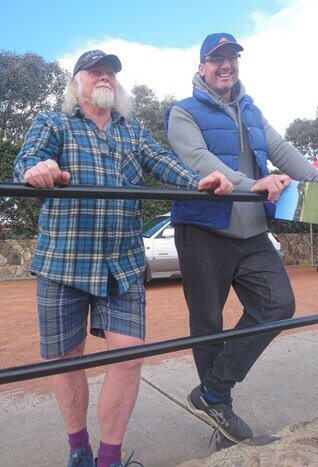 Laurie Fisher and Dan Mckellar watch on as the Vikings take on Qld Country