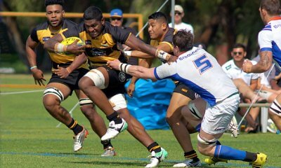 Isi Naisarani on the charge for Perth Spirit v Greater Sydney Rams NRC 2017  (Photo Credit: Delphy)