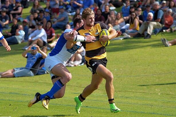 Brendan Owen scores for Perth Spirit v Rams NRC 2017  (Photo Credit: Delphy)