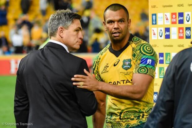 Kurtley Beale and Rod Kafer
