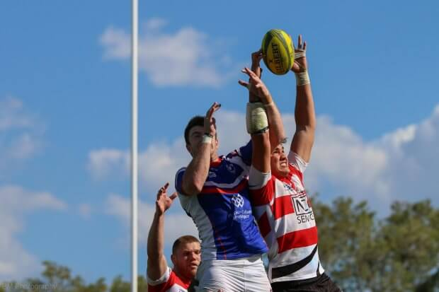 Darcy Swain steals a lineout.