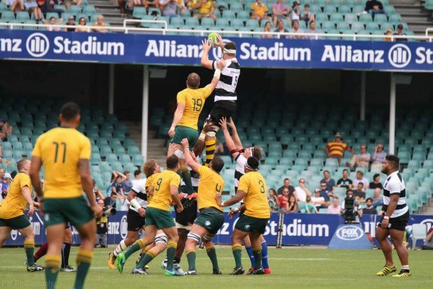Sam Carter with a lineout win.