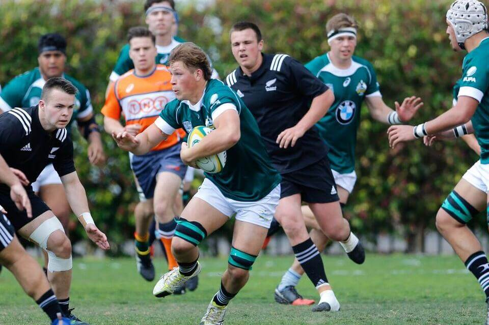 Tom Kibble (7), one of Barbarians best, has been promoted to Schools bench Photo credit: ARU Media