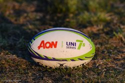 Stock Photo of AON Uni7s rugby ball