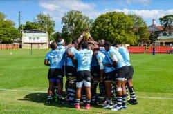 Fiji Pre-game huddle