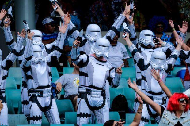 Sydney 7s 2018 Star Wars fans