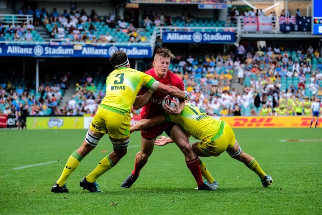 Australian Men Sydney 7s Sam Myers tackles