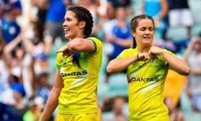 Sydney 7s Australian Women Charlotte Caslick & Dom du Toit,