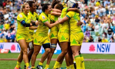Sydney 7s Australian Women celebrate