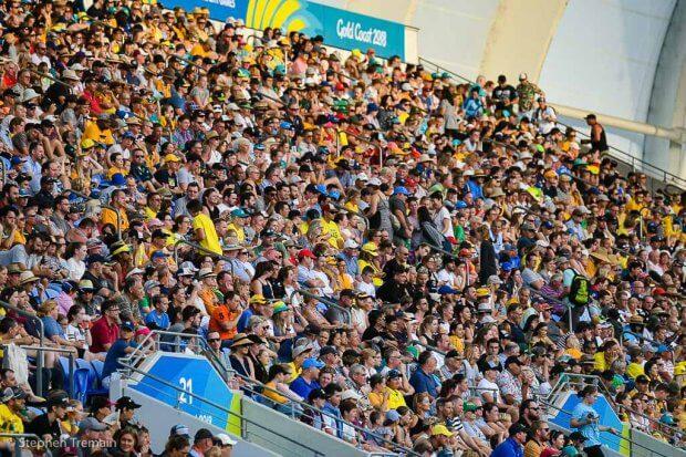 Crowd at Robina Stadium