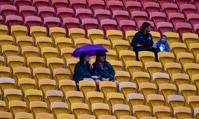 A few brave souls sit out the rain