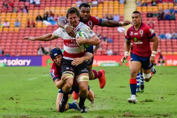 Kwagga Smith tackled just short of the line