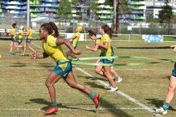 Ellia Green during Aussie Women training session