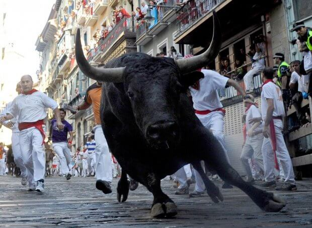 running withe the bulls