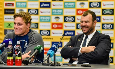 Michael Hooper and MIchael Cheika press conference