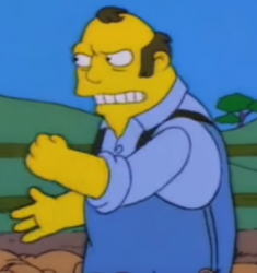 Angus Gardner as depicted by the Simpsons