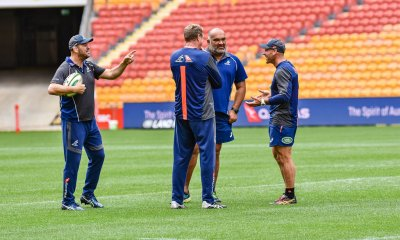 Wallaby Coaching Staff - Michael Chieka, Mick Byrne, Simon Raiwalui and Nathan Grey