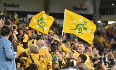 Wallaby fans fly the flag